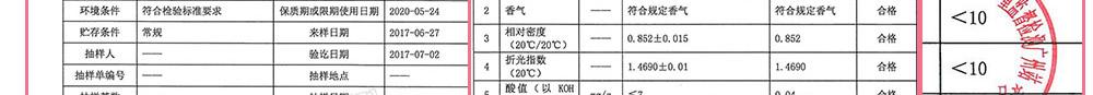 国家轻工业检测广州站-安肤祛纹修复精华油5